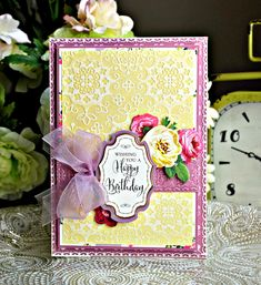 Crafty Creations with Shemaine: Anna Griffin Embossing folders