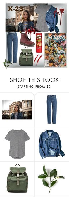 """""""X-23"""" by saschenjka ❤ liked on Polyvore featuring Vetements, Madewell, A.P.C. and Marvel Comics"""