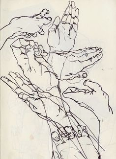 This drawing shows blind contour lines by Egon Schiele. Life Drawing, Figure Drawing, Drawing Sketches, Painting & Drawing, Art Drawings, Contour Drawings, Drawing Hands, Drawing Tips, Drawings Of Hands
