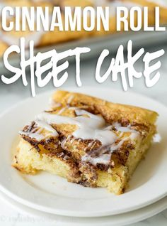 Cinnamon Roll Sheet Cake