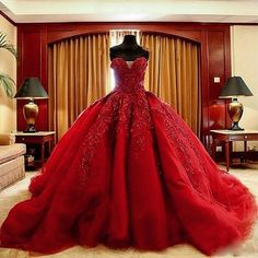 Cheap vestido de noiva vermelho, Buy Quality tulle bridal gown directly from China bridal gown Suppliers: Charming Ball Gown Red Wedding Dresses Sexy Sweetheart Appliques Beaded Long Tulle Bridal Gowns 2015 Vestidos De Noiva Vermelho Red Wedding Gowns, Handmade Wedding Dresses, Long Wedding Dresses, Bridal Dresses, Lace Wedding, Wedding Black, Red Gowns, Trendy Wedding, Elegant Wedding