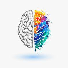 Bright Left and right hemisphere of human brain vector art illustration Brain Painting, Brain Vector, Brain Tattoo, Brain Illustration, Brain Art, Right Brain, Anatomy Art, Science Art, Science Space