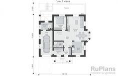 Проект одноэтажного жилого дома с мансардой с размерами здания 10,80 х 13,10 м. Наружная отделка здания - штукатурка. Фундамент - монолтная ж/б плита под всей площадью дома. Наружные стены - керамические блоки с отделкой штукатуркой. Внутренние стены - керамические блоки. Перегородки - газобетонные блоки. Пол 1 этажа - пол по монолитной плите, межэтажное перекрытие - монолитная ж/б плита перекрытия. Крыша многоскатная. Кровля – битумная черепица. Окна — металлопластиковые.