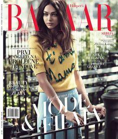 Zhenya Katava on Harper's Bazaar Serbia February 2016 cover