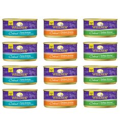 Wellness Natural Cubed Grain-Free Canned Cat Food Variety Pack - 3 Oz. Each - Chicken, Turkey and Salmon, and Turkey Dinner (12 Pack Bundle) *** To view further for this item, visit the image link. (This is an affiliate link and I receive a commission for the sales)