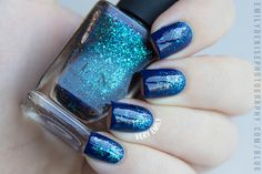 """""""[ILNP] Cold Fusion layered in a simple gradient over Cirque Colors Midnight Cowboy."""""""