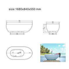 Badekar Bathlife Monte S06 170-20015 Bygghjemme.no Design