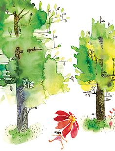 Summer Trees Umbrella Walk evokes the hot, lazy days of summer. The all occasion Masha D'yans greeting card is perfect for all occaions