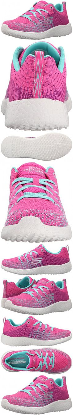 Skechers Kids Burst Ellipse Sneaker (Little Kid/Big Kid), Neon Pink/Turquoise, 2 M US Little Kid