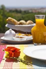 Healthy beakfast served on the private terrace. Come and enjoy our home made marmelades!