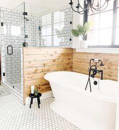 Bathroom Inspiration : Farm House FanaticsThe Definitive Source for Interior Designers Bad Inspiration, Bathroom Inspiration, Bathroom Ideas, Bathroom Organization, Bathroom Goals, Bathroom Designs, Bathroom Cleaning, Bath Ideas, Rental Bathroom