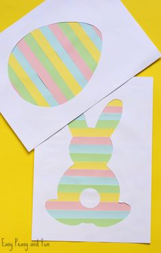 Printable Easter Silhouette Craft - Easter Bunny Template - Easy Peasy and Fun, Easter art Printable Easter Silhouette Craft - Easter Bunny Template - Easy Peasy and Fun Easter Projects, Easter Art, Bunny Crafts, Easter Crafts For Kids, Crafts To Do, Easter Crafts For Preschoolers, Clay Crafts, Paper Crafts, Easter Bunny Template