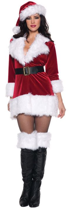 Santa Claus will be all riled up when he sees you in this ladies sexy Santa Claus costume. This ladies sexy Santa Claus costume is a sexy Mrs. Claus costume for women. Costume Sexy, Costume Dress, Santa's Helper Costume, Santa Dress, Santa Outfit, Plus Size Costume, Sexy Costumes For Women, Christmas Costumes, Adult Costumes
