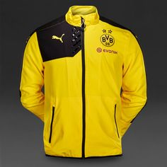 Borussia Dortmund 2015/16 Yellow with Black Men Training Jacket