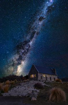 The Church of the Good Shepherd Photo by Landscape Photography by Nico Babot Night Photography, Landscape Photography, Nature Photography, Night Scenery, Look At The Sky, The Good Shepherd, Night Aesthetic, Photo Instagram, Nocturne