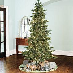 Slim Profile Angel Pine Pre Lit Christmas Tree