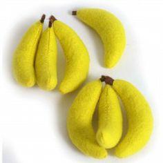 Filz-Bananen-Set, 7-teilig