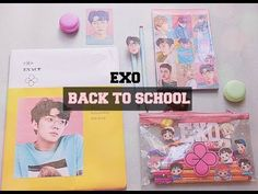 DIY K-POP : EXO Decora tus útiles escolares ver. Lucky one - YouTube
