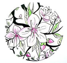 Cherry Blossom Mandala by Jaana Ojakäär