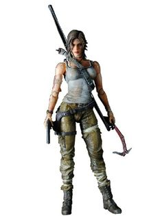 "Original Tomb Raider Lara Croft Play Arts Kai Square Enix 7""action figure MISB"