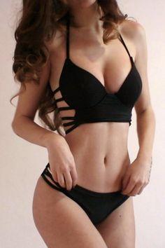 GET $50 NOW | Join RoseGal: Get YOUR $50 NOW!http://m.rosegal.com/bikinis/halter-sleeveless-v-neck-hollow-375984.html?seid=9441677rg375984
