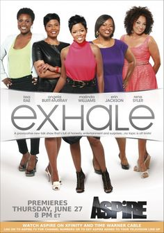 Exhale is a new chat show on the Aspire tv network, Great panel! Issa Rae, Malinda Williams, Time Warner, African American Women, African Americans, Prime Time, Classic Tv, All Things Beauty, Comedians