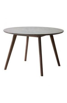 Elite Acacia Wood Base Cement Top Natural Round Dining Table