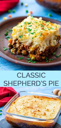 The Best Classic Shepherd's Pie – AKA Shepards Pie or Cottage Pie. Ground Beef (or lamb) with vegetables in a rich gravy, topped with cheesy mashed potatoes, and baked. with ground beef dinner The Best Classic Shepherd's Pie - The Wholesome Dish Beef Dishes, Food Dishes, Shepherds Pie Rezept, Shepherds Pie Recipes, Low Carb Shepherds Pie, German Shepherds, Food Network Recipes, Cooking Recipes, Cooking Hacks