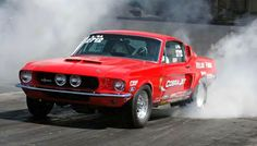 Photo by Dan Bell 68 Ford Mustang, 1967 Shelby Gt500, Vintage Mustang, Pony Car, Race Cars, Racing, Vehicles, Drag Race Cars, Running
