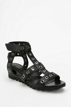 Luxury Rebel Elena Cutout-Stud Caged Sandal