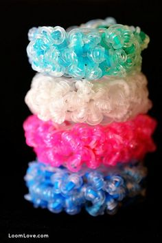 How to Make a Rock Candy Rainbow Loom Bracelet - Rainbow Loom Instructions