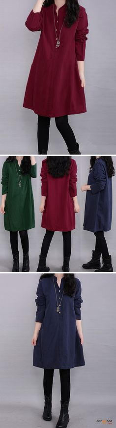 US$14.49+Free shipping. Size(US): S~4XL. Material: Polyester. Home or out, love this vintage and casual dress. Women Dresses, Long Dresses, Dresses Casual, Dresses for Teens, Summer Dresses, Summer Outfits, Retro Fashion.