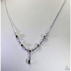 Riyo Talented Peridot 925 Solid Sterling Silver Green Necklace Snper-58001