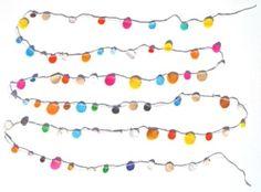 rainbow confetti garland from castle via lolalina by irenepo