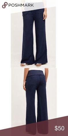 3f514adb1f0 Hei Hei Anthropologie Navy Wide Leg Linen Pants Brand new with tags! -  Waist