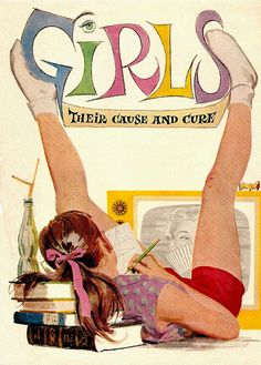 Girls -Their Cause and Cure by Al Parker 1955 (This illustration appeared in Good Housekeeping June 1955)