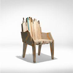 Armchair made from savage wood --   Butaca hecha a partir de restos de madera