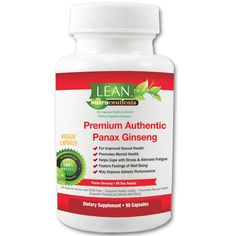 90Ct! 1000mg/serv Red Korean Asian Panax Ginseng 4:1 Extract Sourced in Asia for Max RG1, RB1 and RB2 Ginsenoside Concentrations! Veggie Caps made in USA, FDA inspected GMP certified-LEAN Nutraceuticals -- Remarkable product available now. : Herbal Supplements