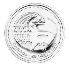 Coins and Canada - 25 cents 2011 - Canadian coins price guide, value, errors and varieties Canadian Things, Canadian Wildlife, Coins Worth Money, Coin Prices, Coin Worth, Gold And Silver Coins, Sinful Colors, Dollar Coin, Old Coins