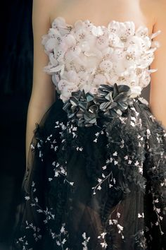 Ornate floral details at Giambattista Valli Spring 2015 Couture
