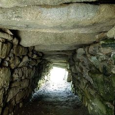 "Fogou at Carn Euny Ancient Village, Cornwall. This Iron Age village is notable for its fogou (Cornish for ""cave""), an underground stone-lined passage, the purpose of which is not clearly known. It may have been a hiding place in times of invasion, a storage area, or may have had ritualistic uses."