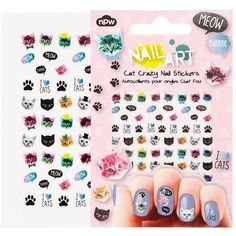 Nail Stickers - Cat Crazy ($5.69) found on Polyvore