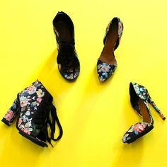 Lace-ups or stilettos? #shoecult #floral
