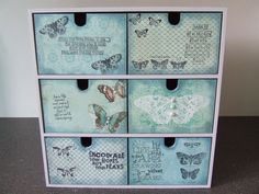 love the colours on this box Decoupage Furniture, Decoupage Box, Altered Boxes, Altered Art, Funny Furniture, Cheap Furniture, Luxury Furniture, Decor Crafts, Diy And Crafts