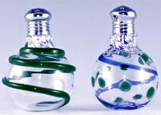 Glass salt and pepper shakers