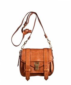 Proenza Schouler PS1 Pouch Leather in Saddle