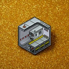 Rep' your love for the New York City subway with this enamel pin. Jacket Pins, Doja Cat, Badge Design, Pin Art, Cool Pins, Metal Pins, Pin And Patches, Pin Badges, Lapel Pins