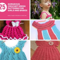 25 Gorgeous Crochet Dress Patterns for Girls and Babies One Skein Crochet, Easy Crochet Stitches, Crochet Cardigan Pattern, Granny Square Crochet Pattern, Crochet Patterns, Crochet Shawl, Knitting Patterns, Granny Square Häkelanleitung, Crochet Baby Clothes