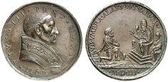 Vatican, Pope Pius III / Francesco Todeschini Piccolomini (1439-1503). Bronzed lead medal, On the assistance for Cesare Borgia (1475-1507). Half-length portrait / Cesare Borgia asks enthroned Pope to protect against the Orsini.