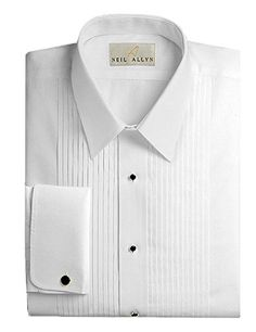 Mens 100/% Cotton Wrinkle Free Slim Fit French Cuff Laydown Collar Dot Patterned Tuxedo Shirt